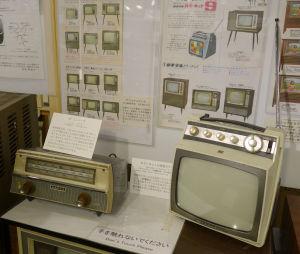 カラーネットの原型の展示